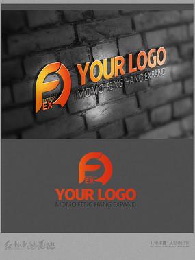 AF字母logo设计