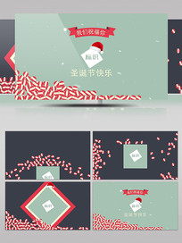 扁平化AE圣诞节Logo动画