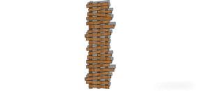 不规则木板路径 skp