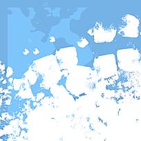 蓝白底纹喷溅迷彩图案