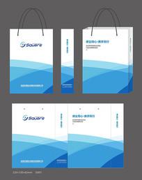 蓝色企业宣传手提袋