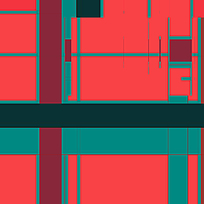 暖色调色块线条图形素材