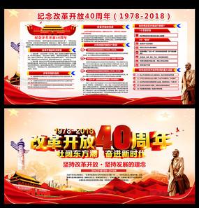 庆祝改革开放40周年展板下载