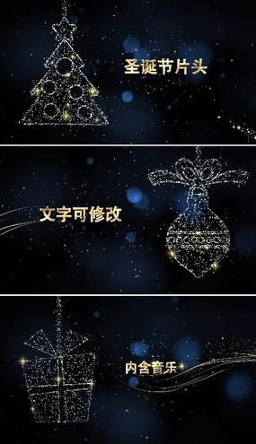 最新圣诞节新年片头视频模板