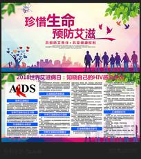 2018世界艾滋病日宣传展板