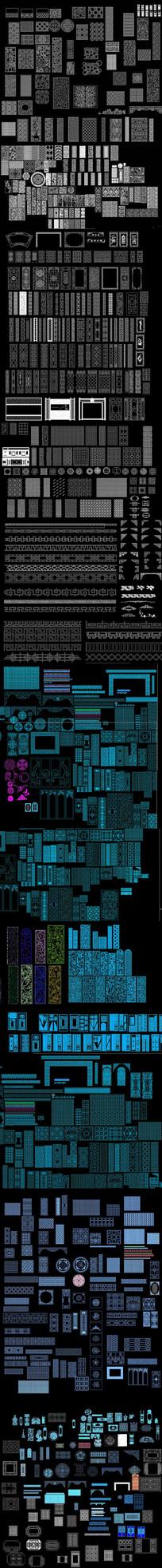 CAD屏风花格图库
