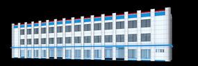 办公楼效果图模型