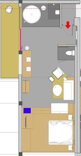 长条形客房设计平面图