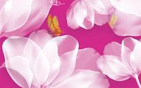高端大气花卉背景墙