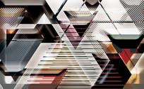 高端大气欧式几何形状装饰画