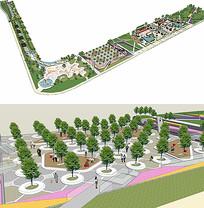 公园城SU模型