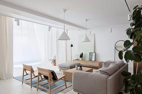 简约现代客厅设计意向图