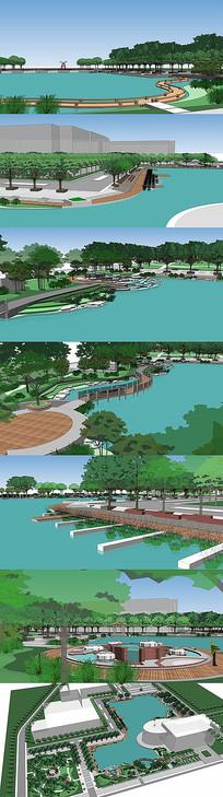 景观公园SU模型