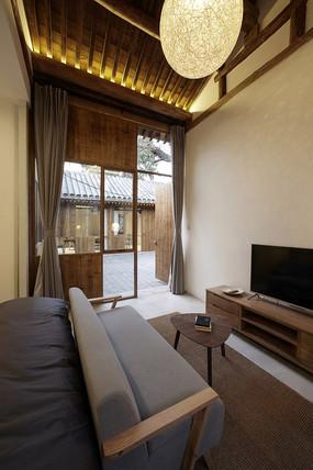 民宿室内客厅设计 JPG