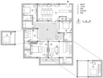 民宿室内平面布置图