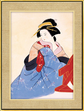 中式唐装仕女图装饰画 PSD