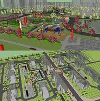 新村规划设计SU模型
