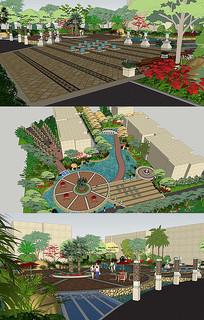 园林景观SU模型