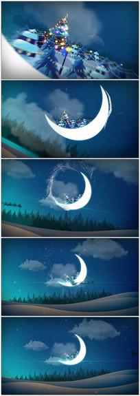 月亮湾圣诞夜祝福视频