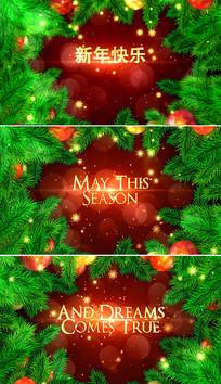 ae圣诞节相册视频模板