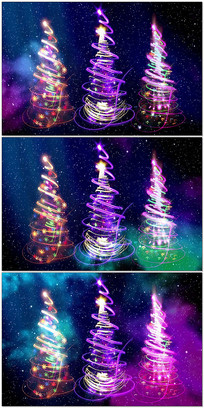 炫彩星空圣诞树视频
