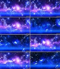 蝴蝶蓝色粒子背景视频