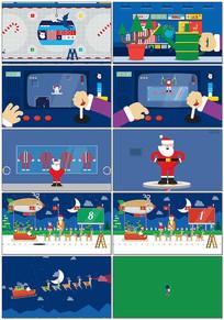 卡通俏皮圣诞倒计时视频素材
