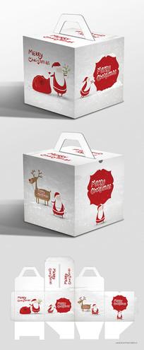 圣诞老人插画圣诞节包装礼盒