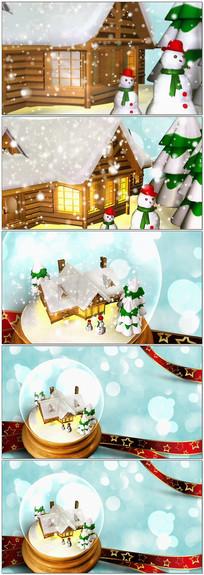 圣诞球圣诞雪人视频素材