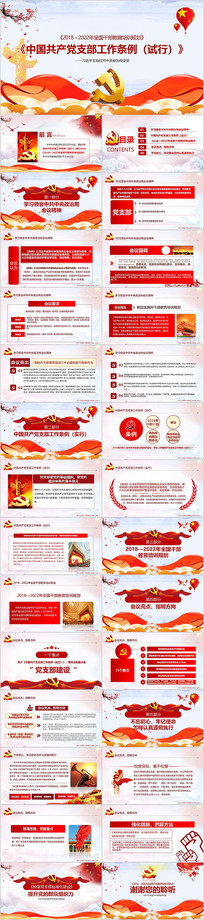中国共产党支部工作条例PPT