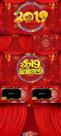 2019喜庆猪年新春祝福AE视频