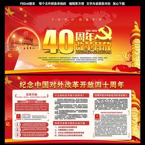 改革开放40年宣传展板 PSD