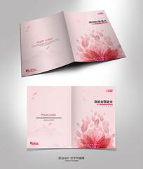 简约粉色花朵封面设计 PSD