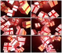 圣诞礼物盒下落视频