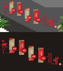 十九大楼梯文化墙