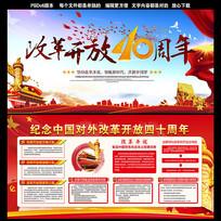 中国改革开放40周年展板