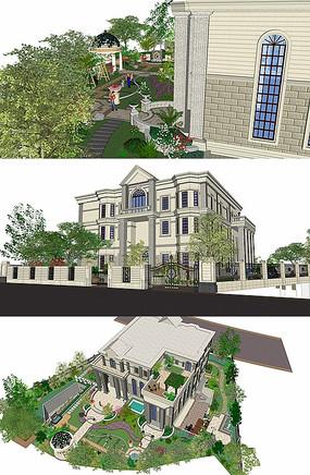 别墅建筑SU模型