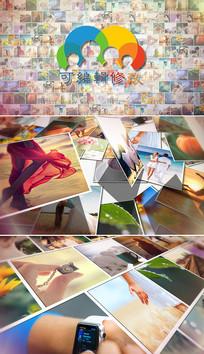 多图片展示照片墙片头模板