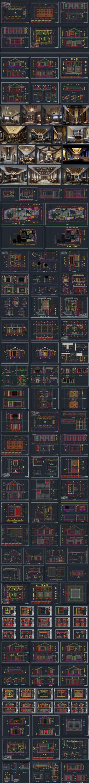 会所室内装修设计CAD图