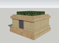 矩形花池造型小品