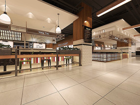 美食庭院室内效果图