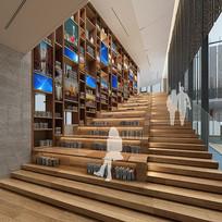 某商业中心楼梯效果图 JPG