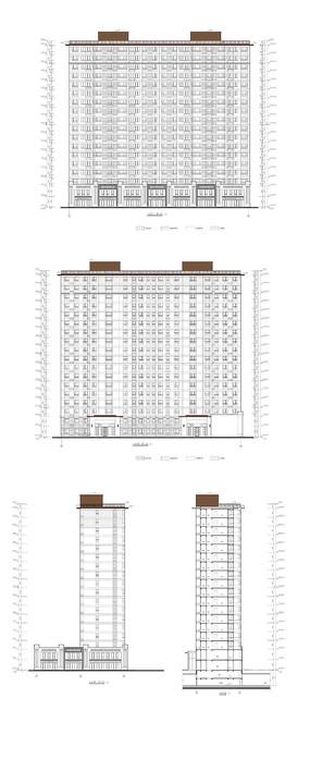某住宅小区建筑立面图