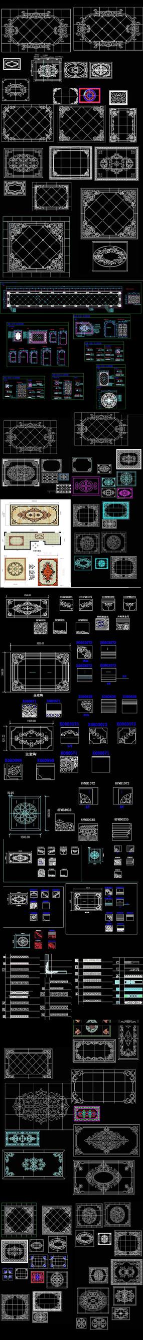欧式拼花CAD图集