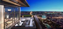 商业建筑屋顶花园景观效果图 JPG