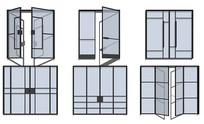现代玻璃门商场推拉门