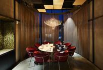 现代餐厅包厢设计