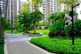 小区矩形树池座椅庭院