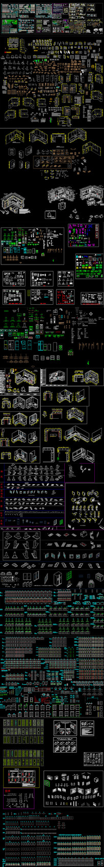 整木实木橱柜CAD设计图集