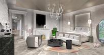 巴黎家具展览空间卧室意向图
